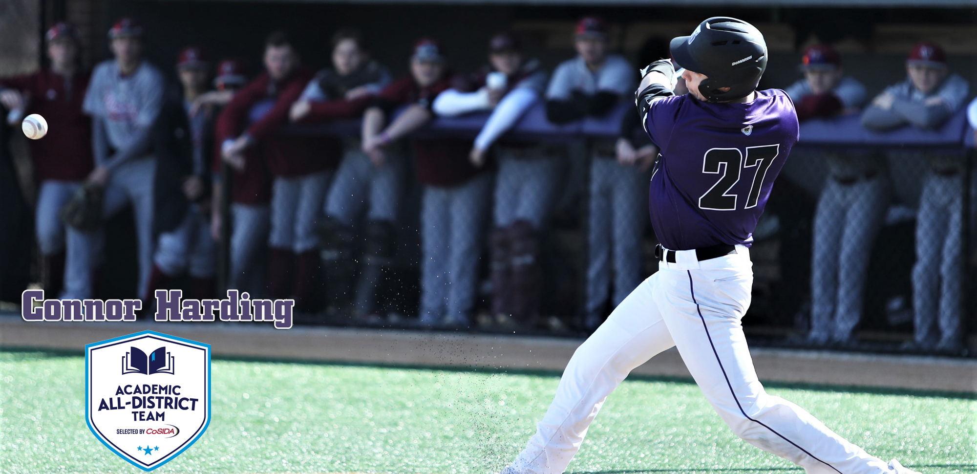 Junior outfielder Connor Harding of The University of Scranton baseball team earned CoSIDA Academic All-District First Team honors as announced by the organization on Thursday.