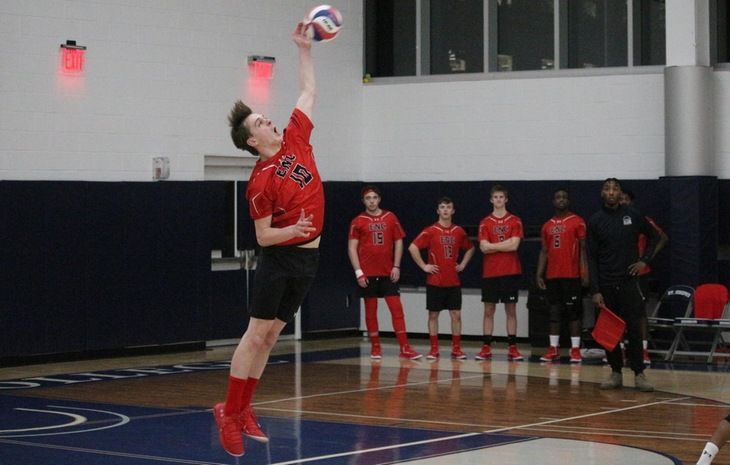 Men's Volleyball Blanked at Emerson Thursday