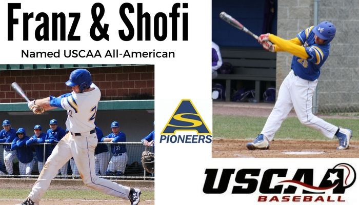 Franz and Shofi Named USCAA All-Americans