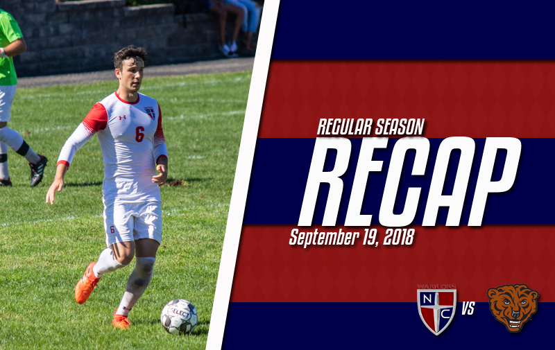 Men's Soccer Upended by NYIT Bears at Home