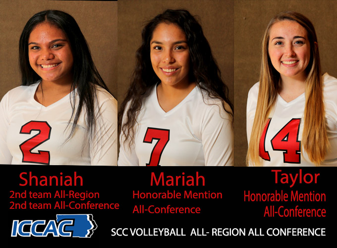 SCC Volleyball Players Earn All-Region All Conference Honors