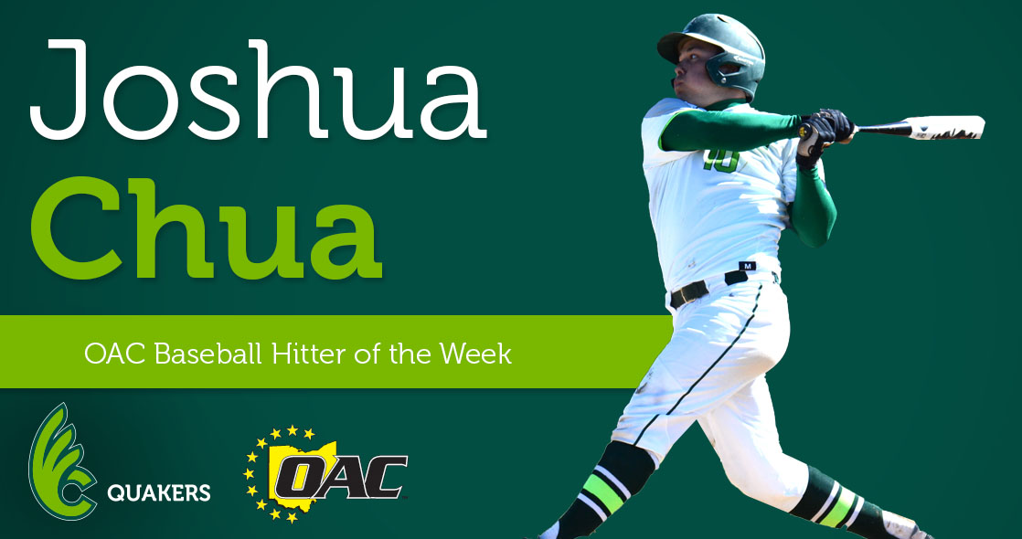Joshua Chua Named OAC Baseball Hitter of the Week