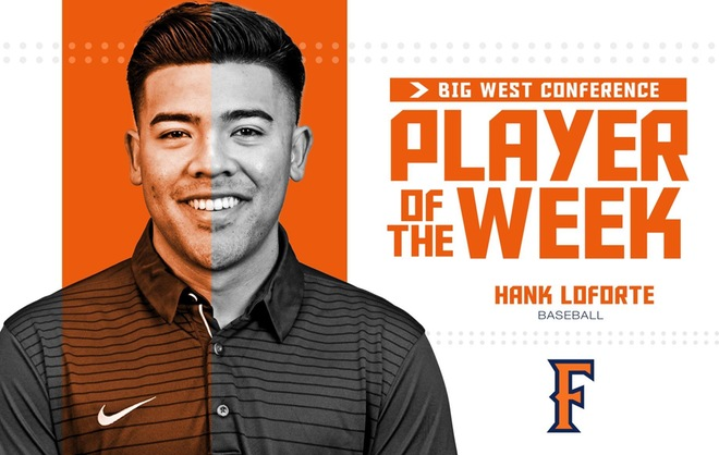 Big West Player of the Week Hank LoForte