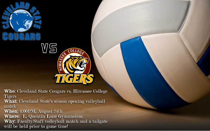 Faculty Volleyball Match and Tailgate Will Kick Off Women's Volleyball Home Opener