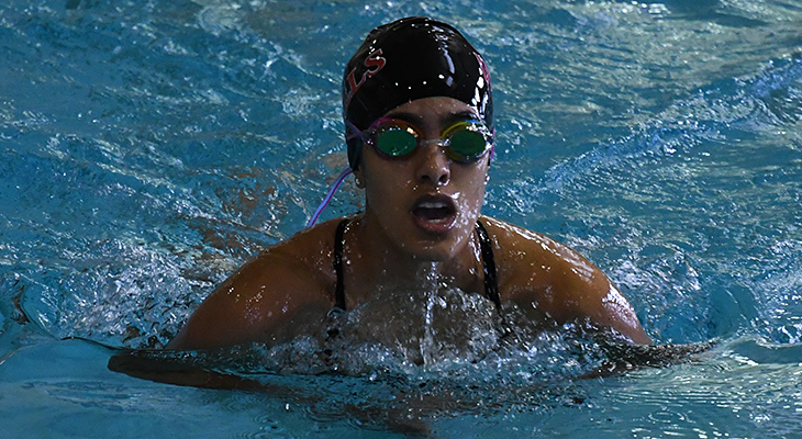 Women's Swimming Competes In NEAC Tri-Meet