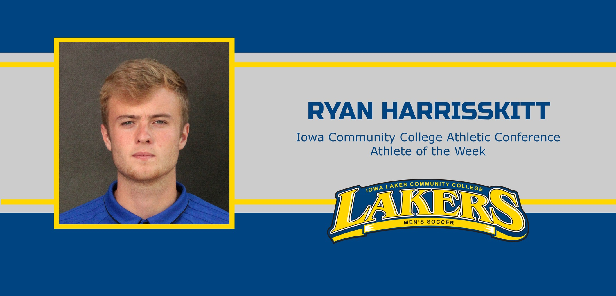 Ryan Harrisskitt receives goalkeeper of the week for his second time this season.