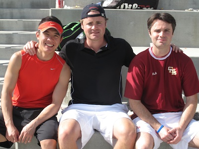 Garrett Lee (CMC '02), Matt Chambers (CMC '00), and Locky Chambers (CMC '02)