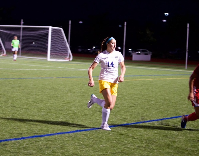 Gagliardi, Credidio's Goals Push Women's Soccer Past Sarah Lawrence, 2-1, on Wednesday Night