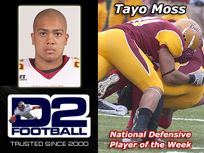 Tayo Moss Earns National Defensive Honor