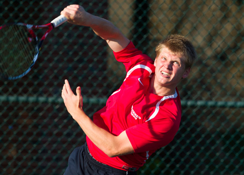 Will Golinkin claimed the top singles flight as the Red Devils posted a 7-2 win over visiting Gettysburg on Wednesday<BR>