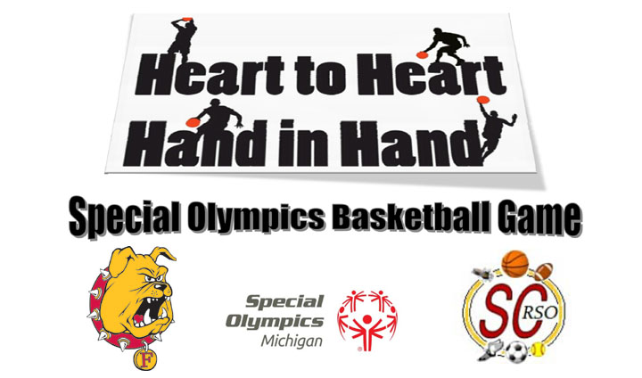 Ferris State Basketball Squads Teamed Up For For Special Olympics Game