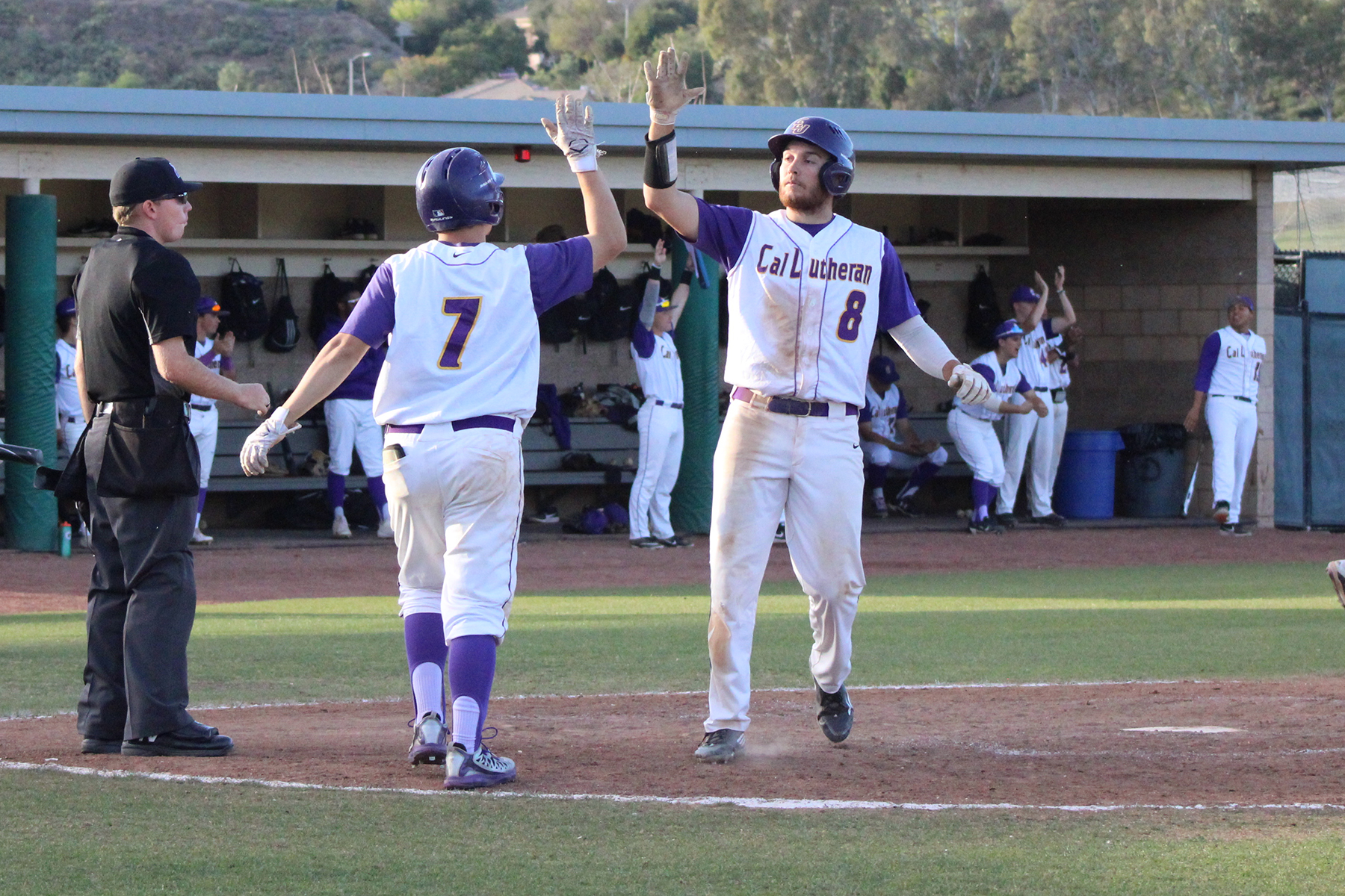 Cal Lutheran improves to 10-0 after exploding for 16 runs on 19 hits in Wednesday's win over Centenary. (Photo Credit: Mariah Zermeno)