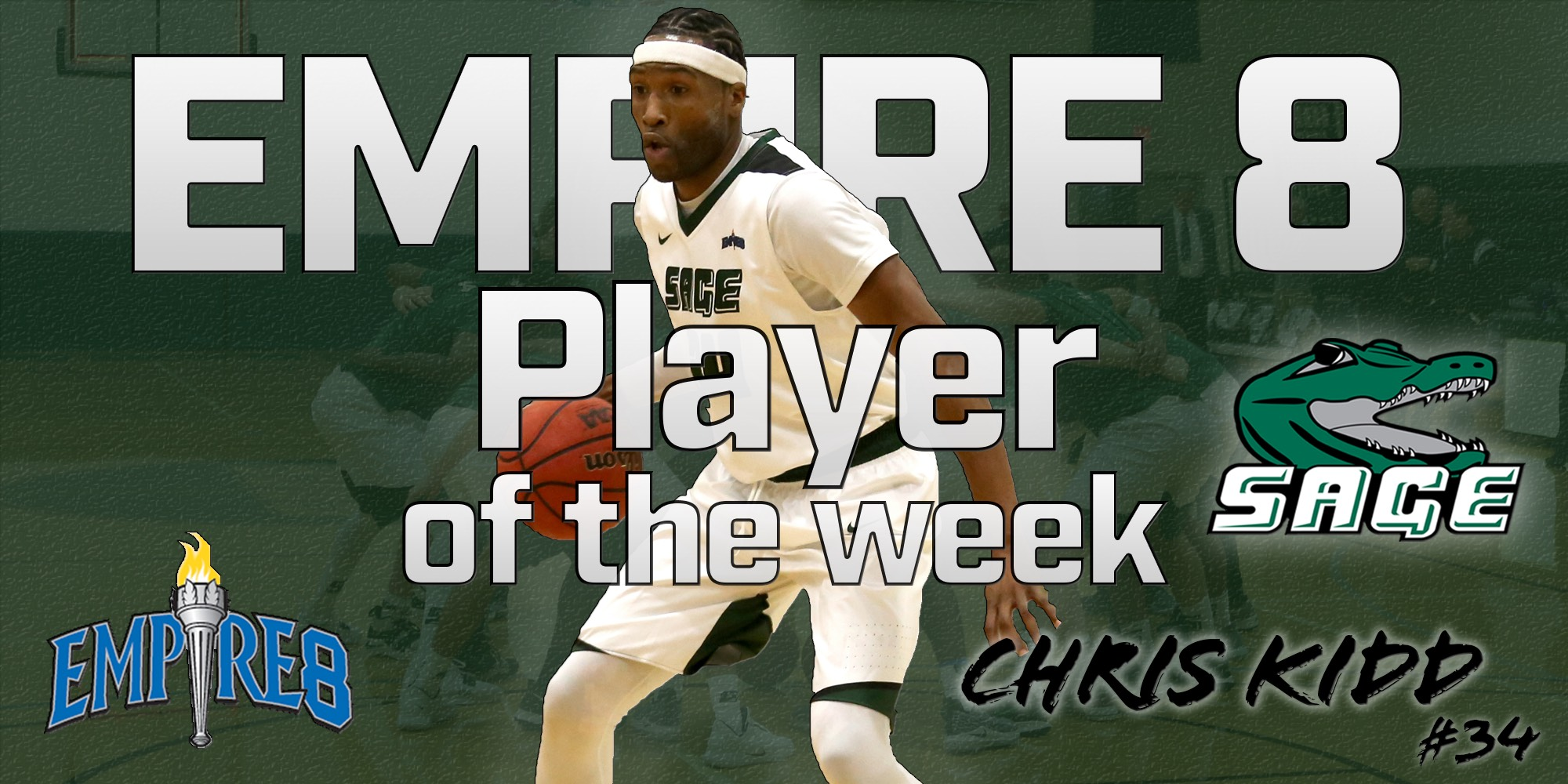Kidd honored as Empire 8 Men's Basketball Player of the Week