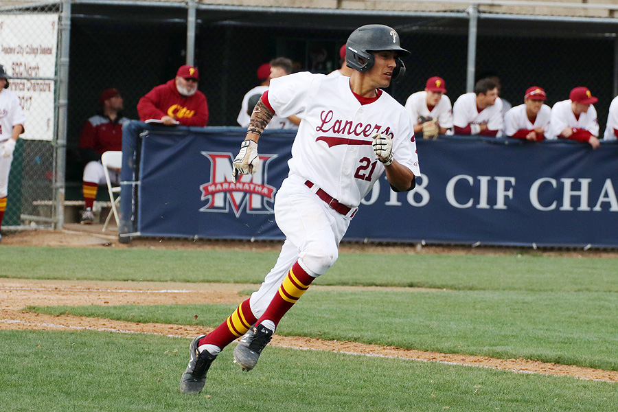 Lancers batting leader Gabriel Arellano runs the bases during a recent game.