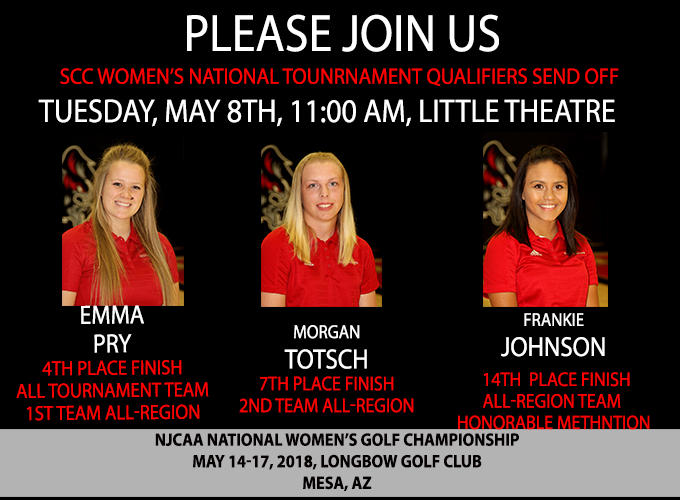 SCC Athletics Announces Send Off for Women's National Qualifying Golfers