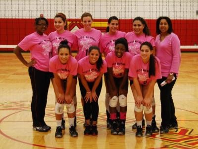 District of Columbia Women's Volleyball Falls to Bridgeport in Three Sets on Dig Pink Night
