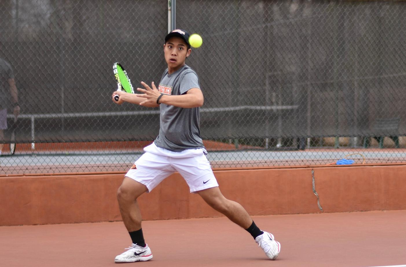 No. 21 Men's Tennis Compiles Four Singles Wins at Cal Lutheran