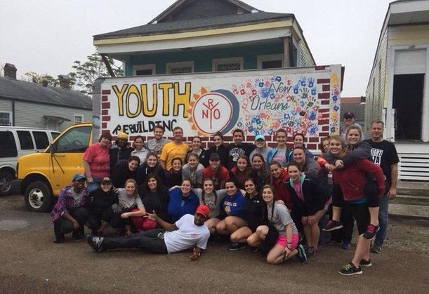 Current and Former D'Youville Student-Athletes Lend a Hand in New Orleans