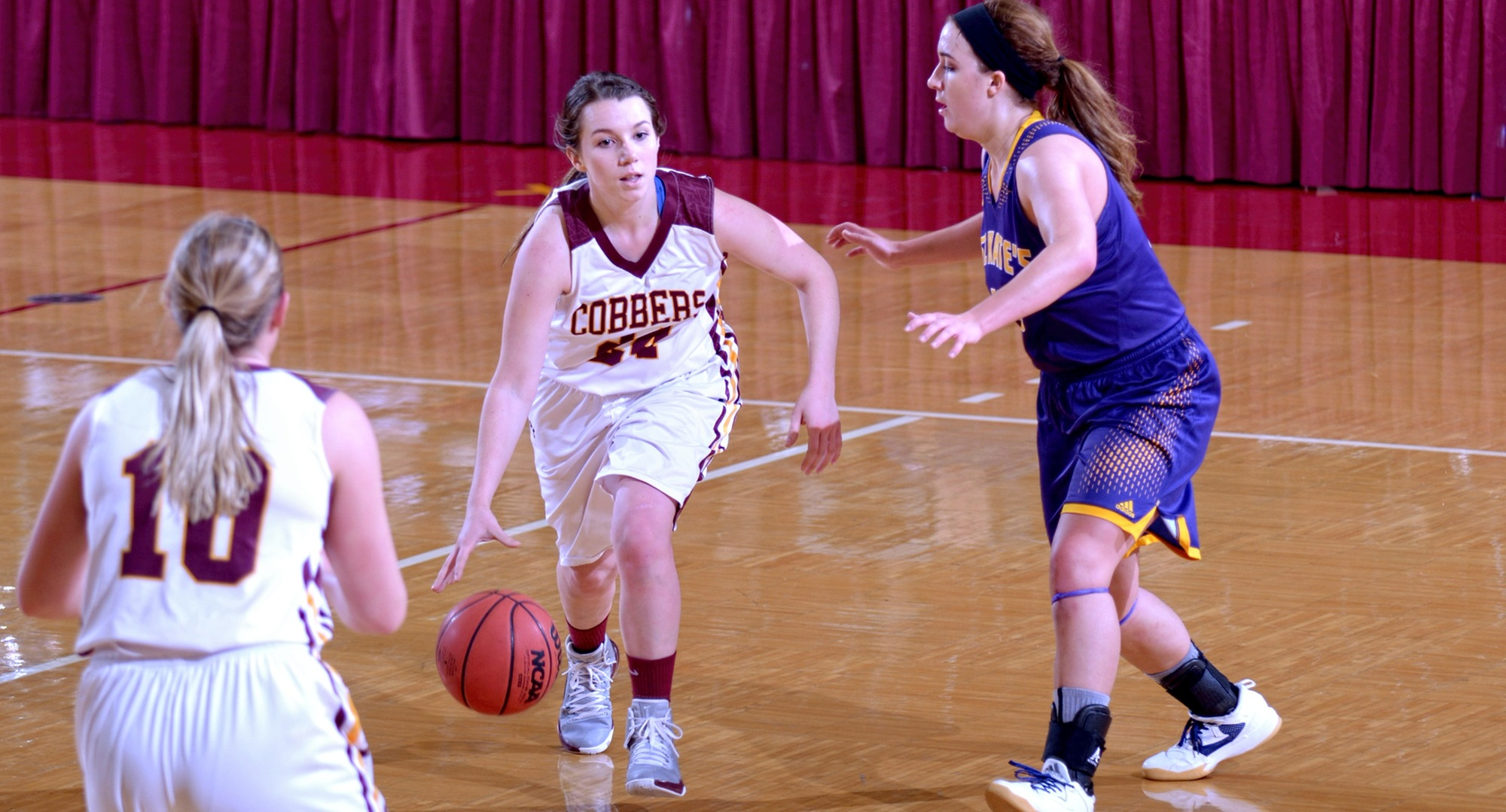 Junior Cassidy Rahman had a career-high 10 rebounds in the Cobbers' game at St. Catherine.