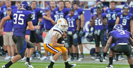 Golden Eagle turnovers help No. 4 TCU roll to 62-7 victory