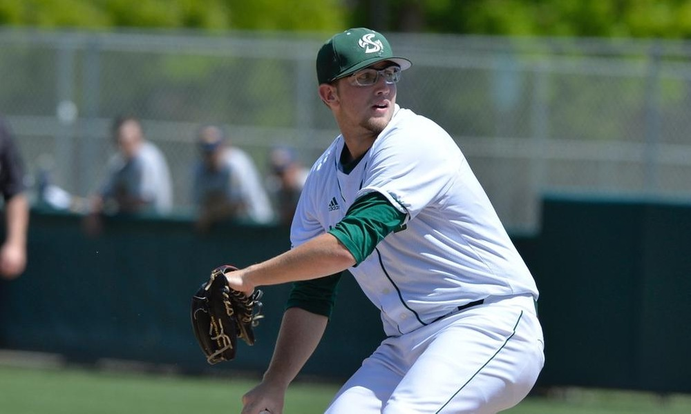 RANDALL, ROBERTS PITCH BASEBALL TO 5-0 SHUTOUT WIN SUNDAY