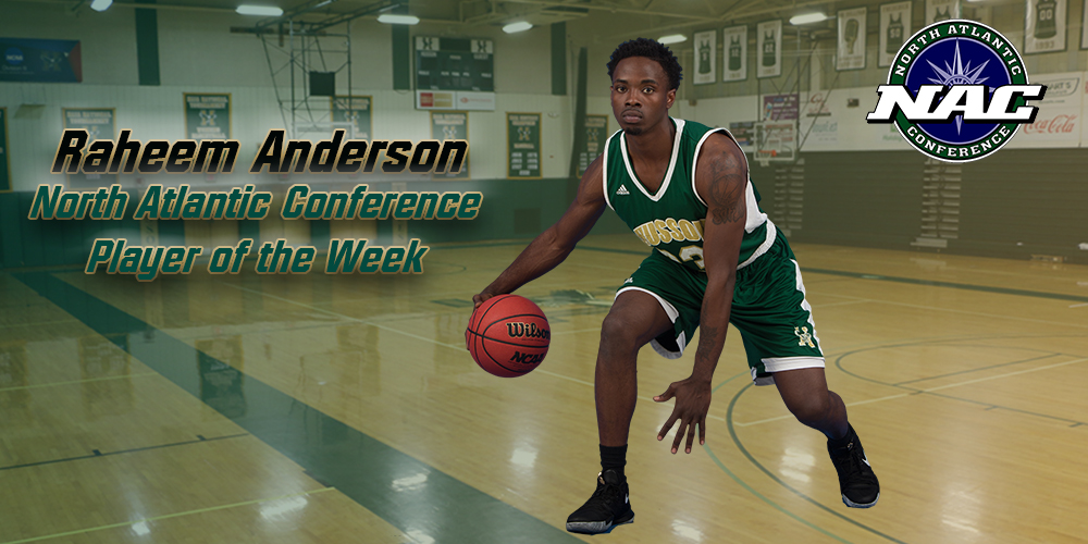 Anderson Named NAC Player of the Week