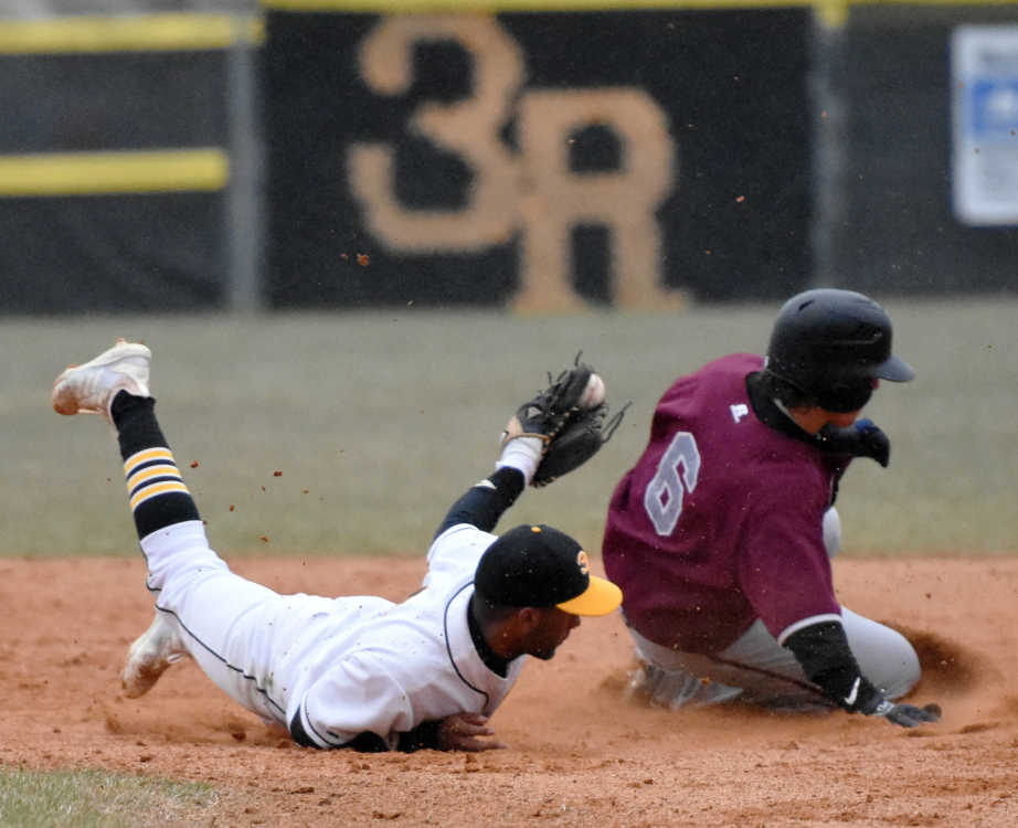 Raiders fall in first game of region doubleheader, second game suspended