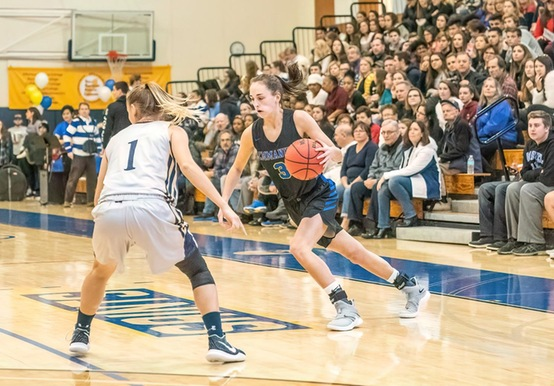 STRONG DEFENSIVE EFFORT LIFTS WOMEN'S HOOPS PAST COLBY-SAWYER IN GNAC QUARTERFINAL, 61-39