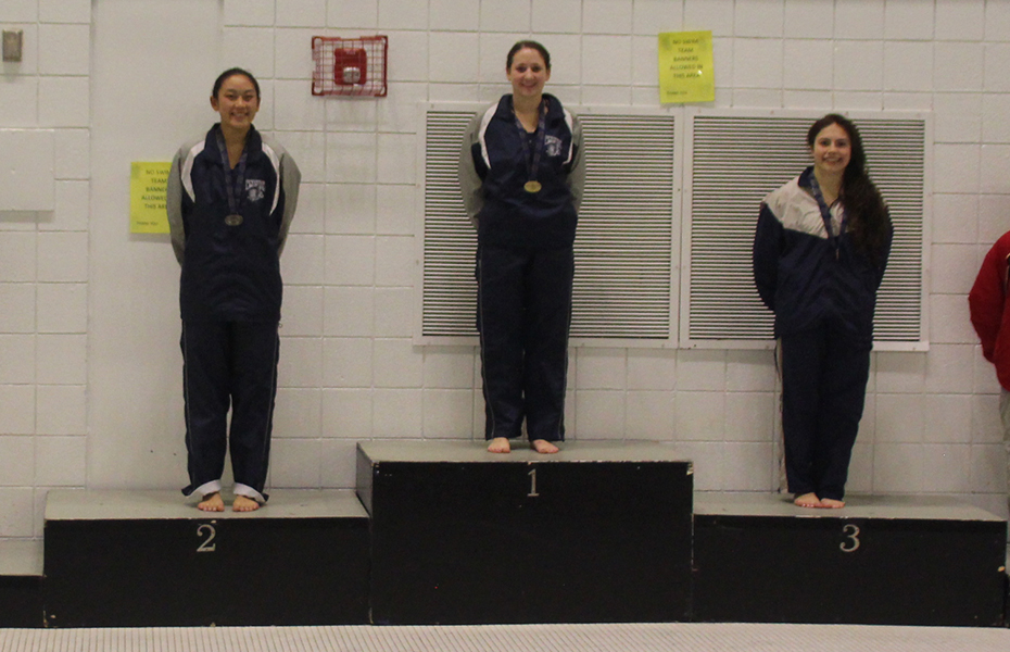 Reichman wins 3-meter dive; Geneseo sweeps 800 freestyle relays