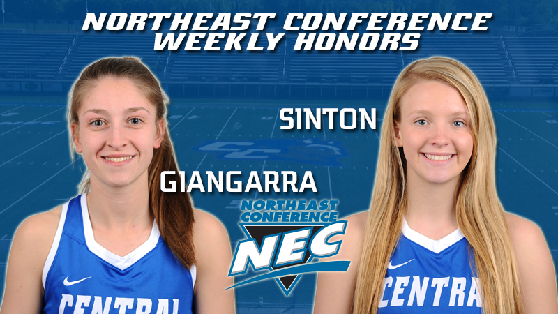 Giangarra, Sinton Earn Weekly Northeast Conference Honors