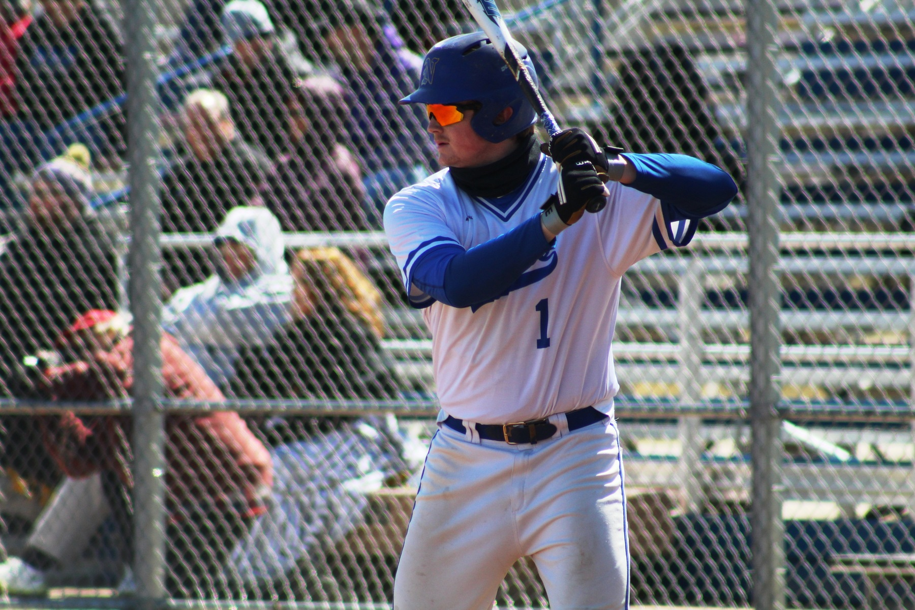 NIACC's Fox Leum bats in first game of last Saturday's doubleheader at DMACC.