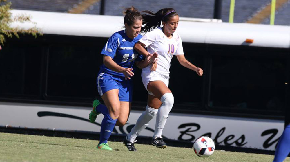 Tech falls 1-0 in defensive battle at EKU to close out regular season; hosts playoff match Sunday