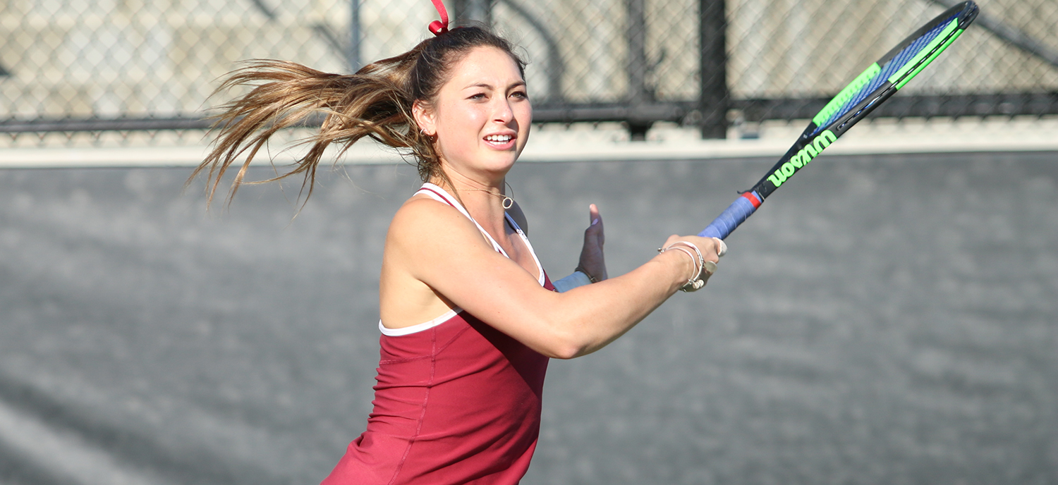 Catherine Allen's victory at #2 singles clinched Friday's match against Southwestern.