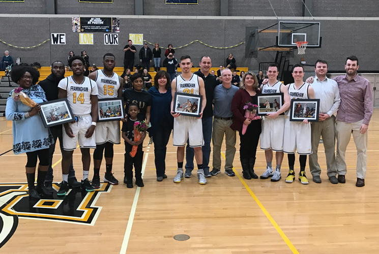 Men's Basketball seniors and their families