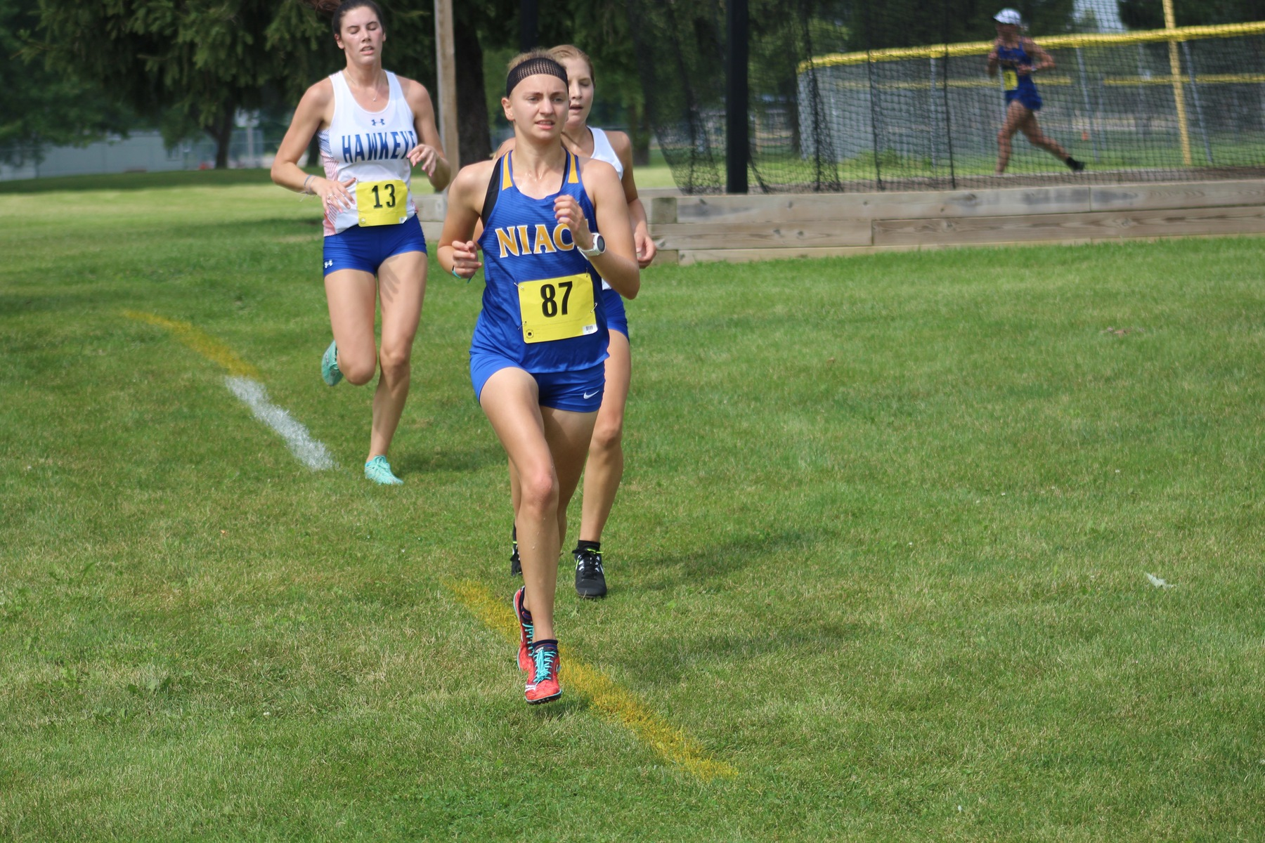 NIACC freshman Emma Davison runs to a seventh-place finish at the regional time trial on Saturday in Davenport.