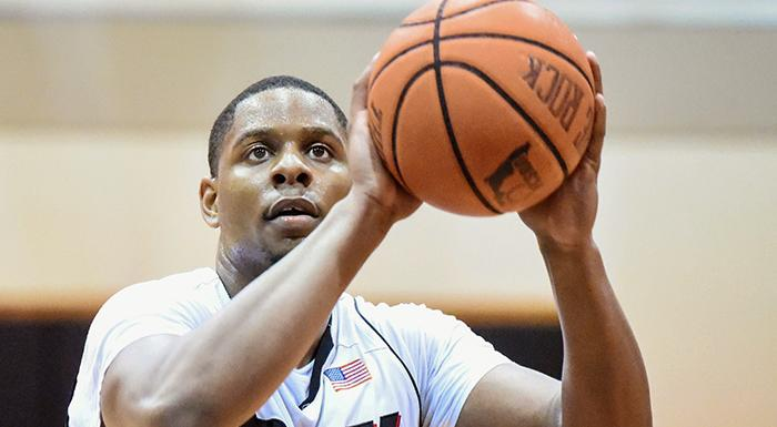 Nigel Grant is one of 10 former Eagles currently playing pro basketball. (Photo by Tom Hagerty, Polk State.)
