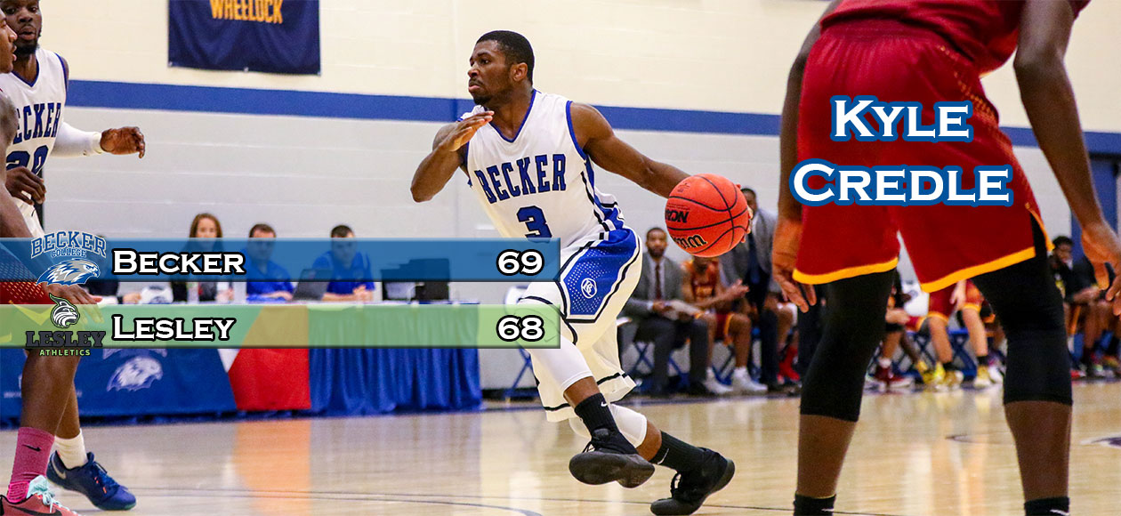 Credle's clutch three lifts Men's Basketball over Lesley, 69-68