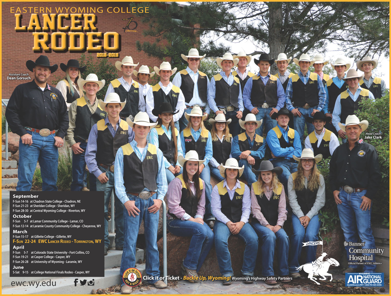 Eastern Wyoming College Lancer Rodeo Team
