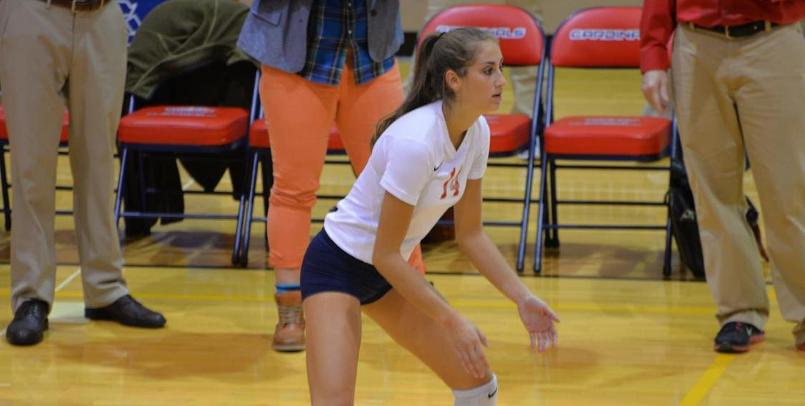 Andrea Brigham had a season-high 21 kills in Friday's match against the Wildcats...