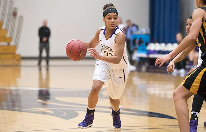 Evora reaches 1,000 points, women's basketball falls to No. 15 Bentley