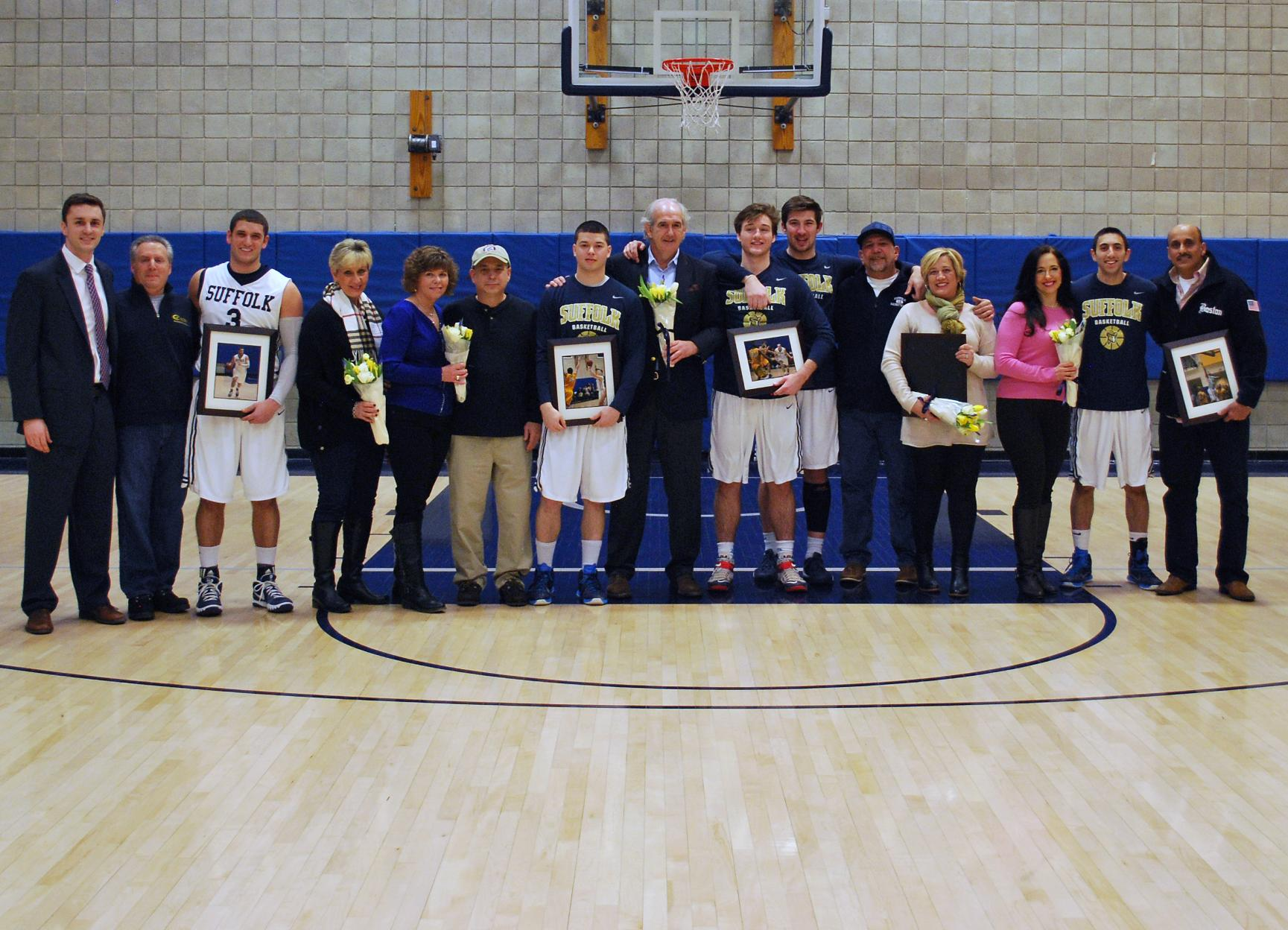 Rivier Plunders Men's Basketball Senior Day; Unni Scores 1000