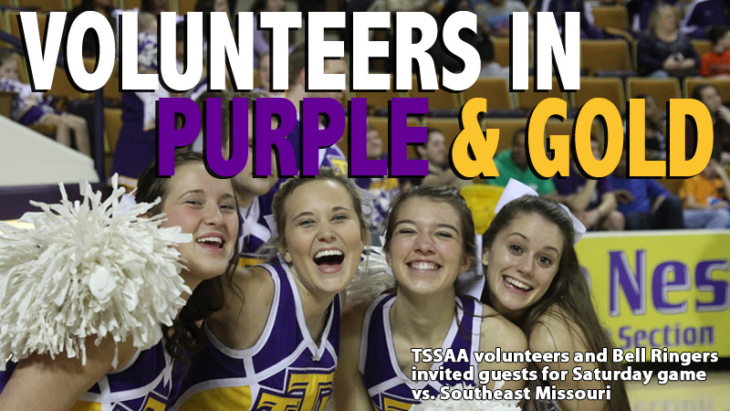 Area volunteers invited guests at Saturday's game vs. Southeast Missouri