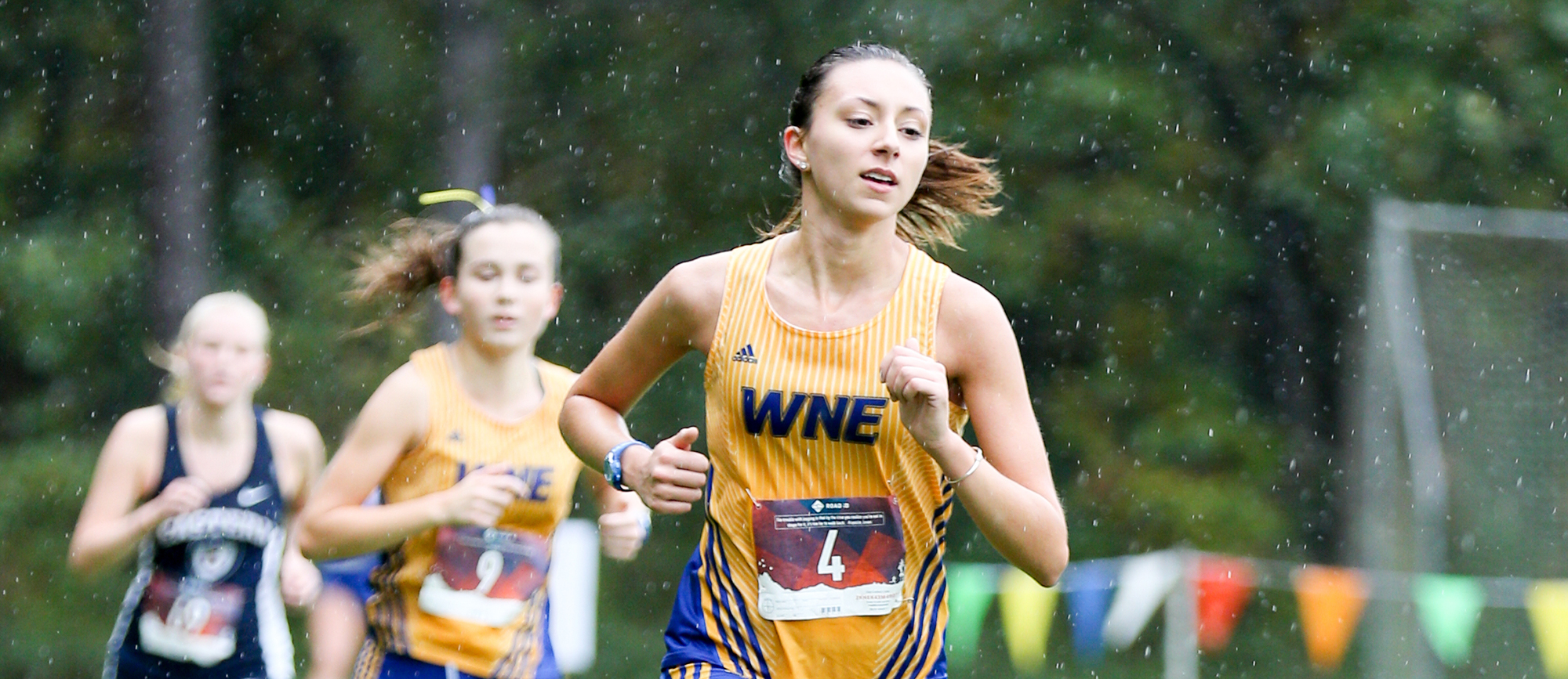 Senior Meagan Dias led the Golden Bears with a 169th place finish in her final collegiate race on Saturday at the New England Regional Championship. (Photo by Chris Marion)