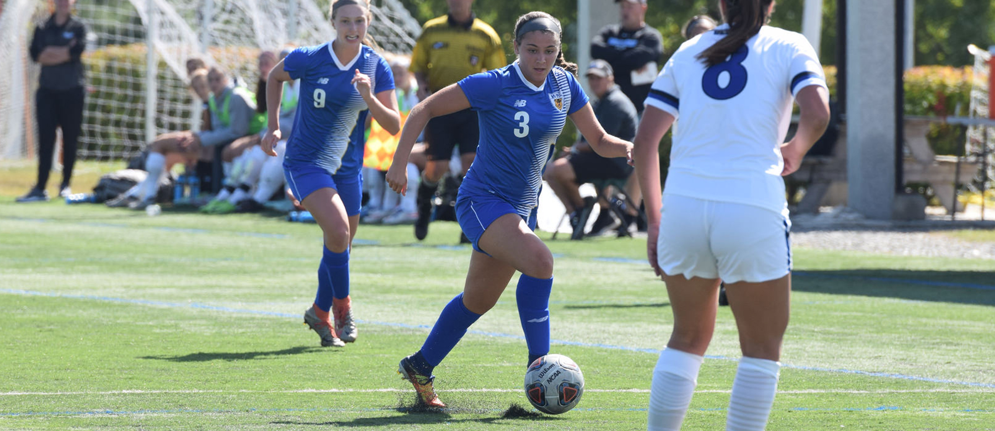 Sophomore Morgan Smith scored two goals in Western New England's 3-0 victory over Husson on Sunday at the Courtyard by Marriott Classic. (Photo by Rachael Margossian)