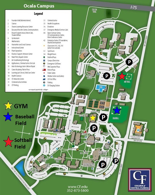 college of central florida map ocala