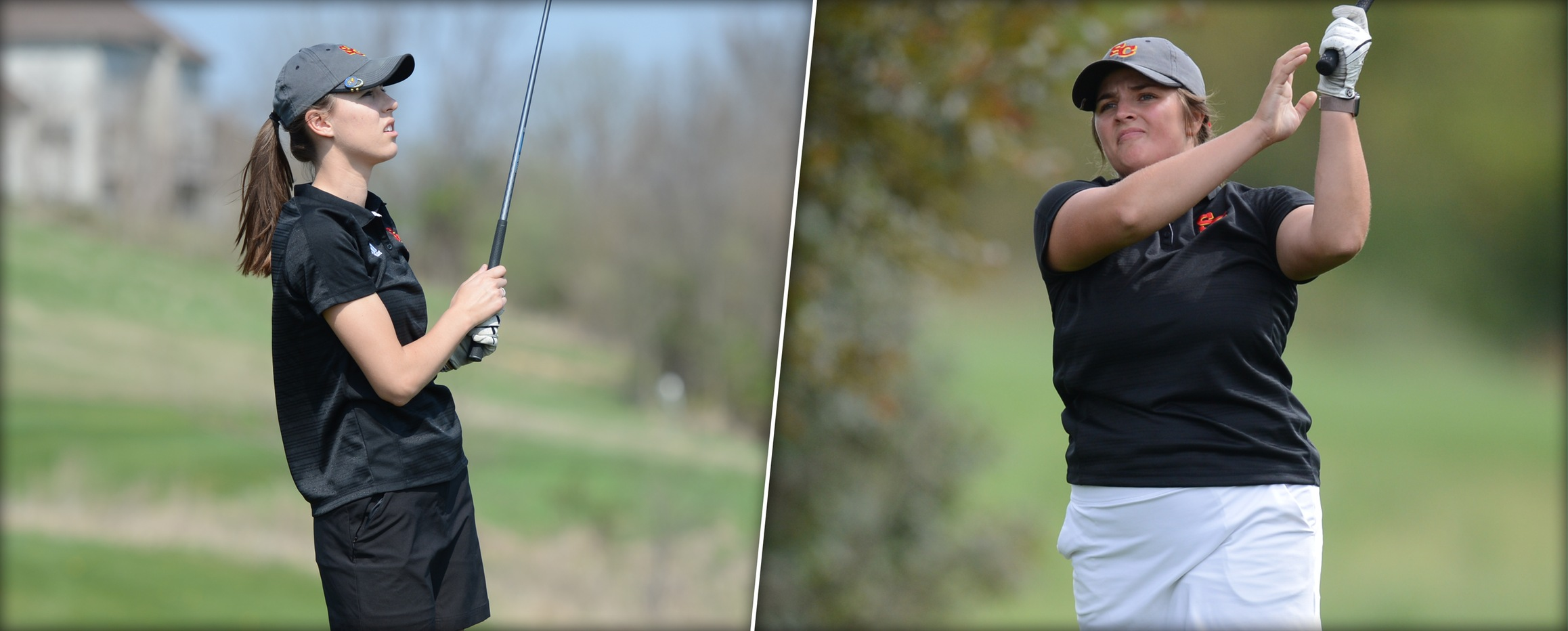 Madison Hance (left) and Hannah Gordon earned All-American Scholar honors from the WGCA for the 2017-18 season.
