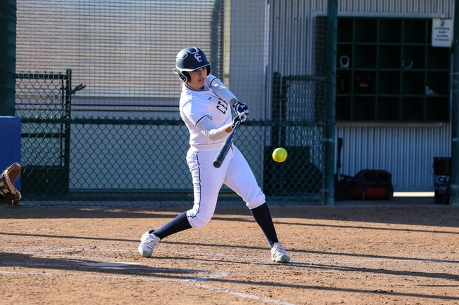 Victoria Medina had a pair of hits for the Falcons