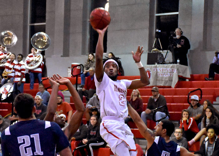 Isaiah King scored 12 points in Saturday's loss to Christopher Newport.