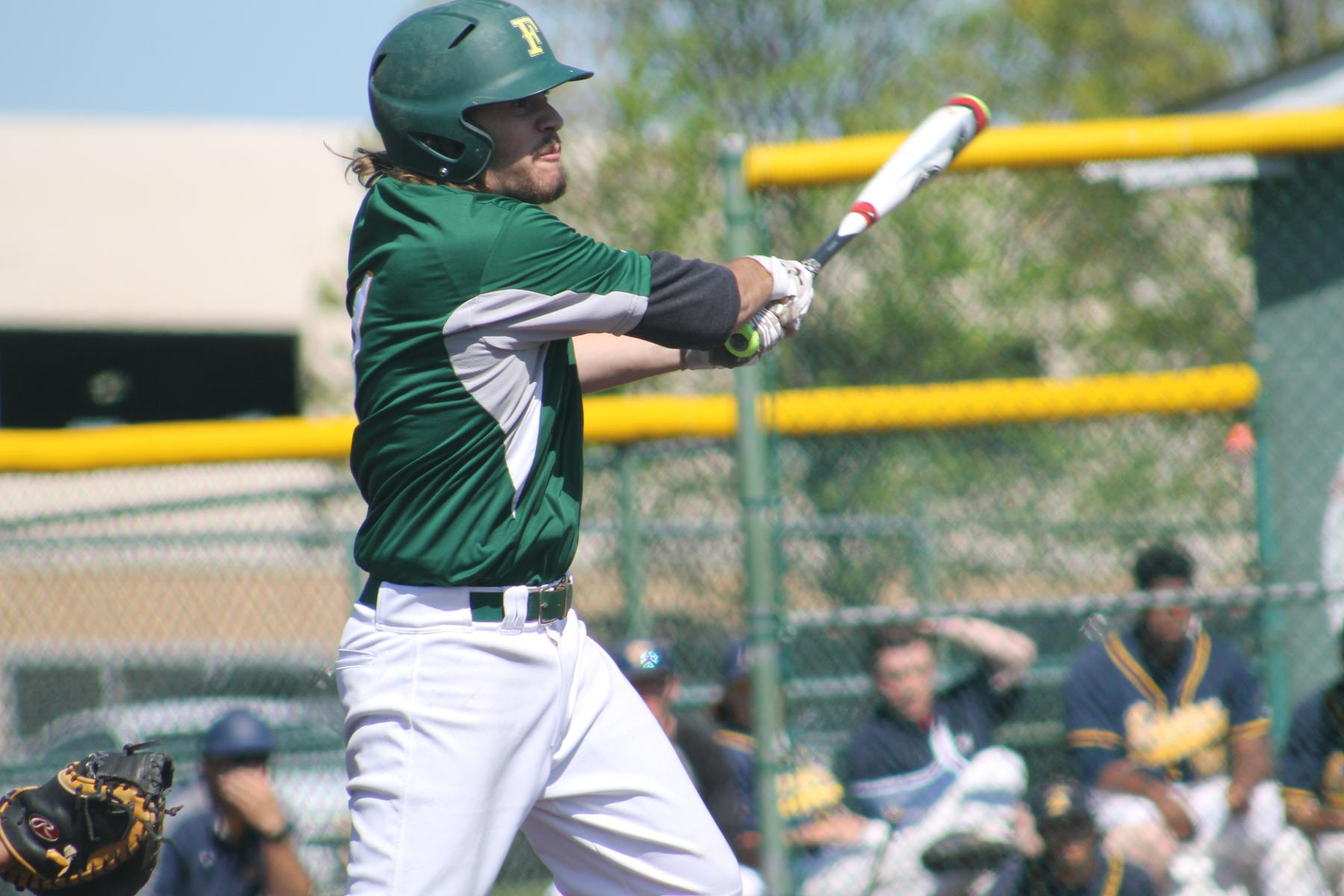 Baseball Splits Doubleheader With Lions