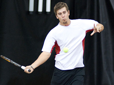 FSU's Josh Guckenberger saw action at third doubles on Monday (FSU Photo Services)